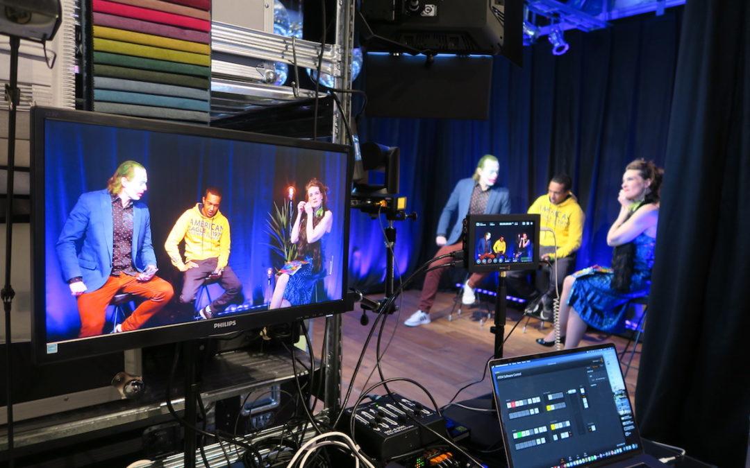 Musikvideoinspelning i Studio Eventation